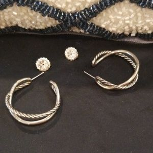 David Yurman Cross Over Hoops